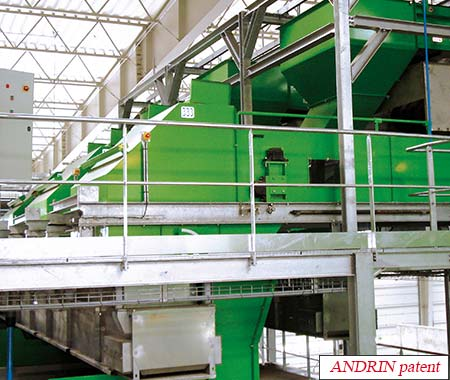 Andrin patented eddy current separator